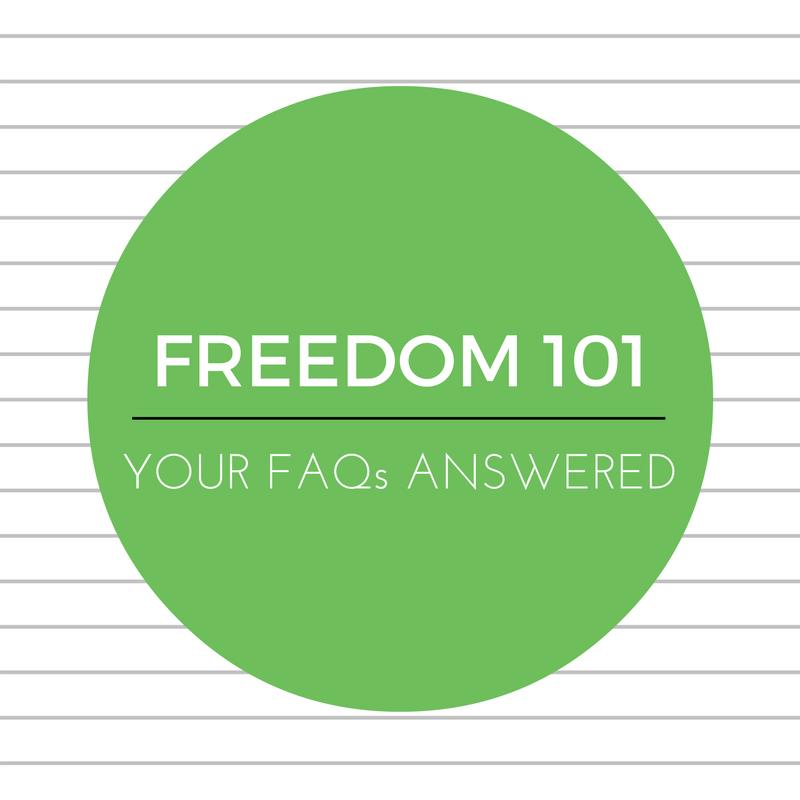 Freedom 101 – FAQsanswered